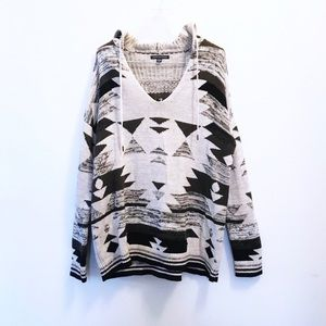 American Eagle Outfitters Boho Hooded Sweater